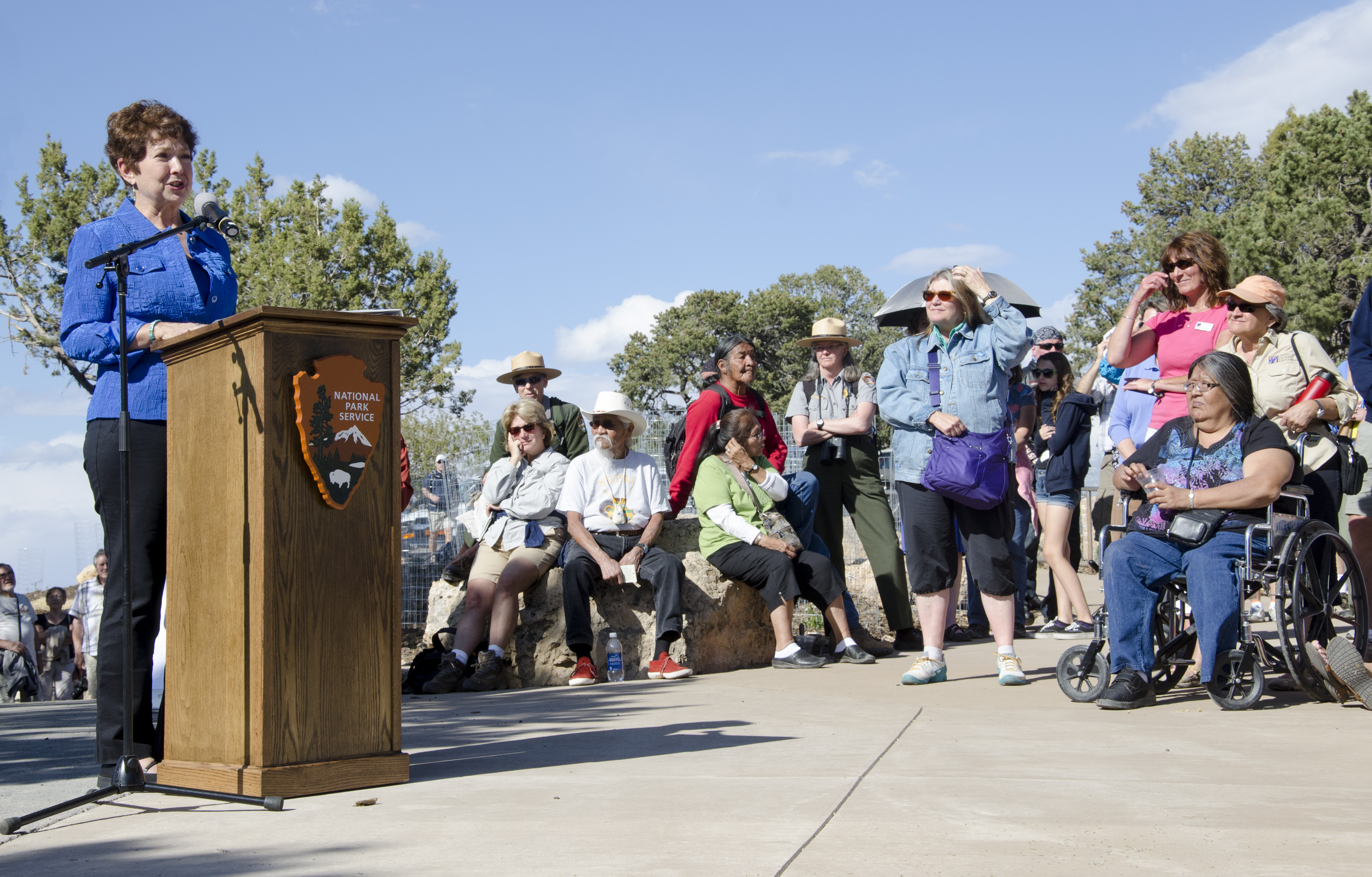Bright Angel Trailhead Renovation Dedication - Chris Muldoon - May 18, 2013 - 224 - Flickr - Grand Canyon NPS.jpg During the dedication ceremony