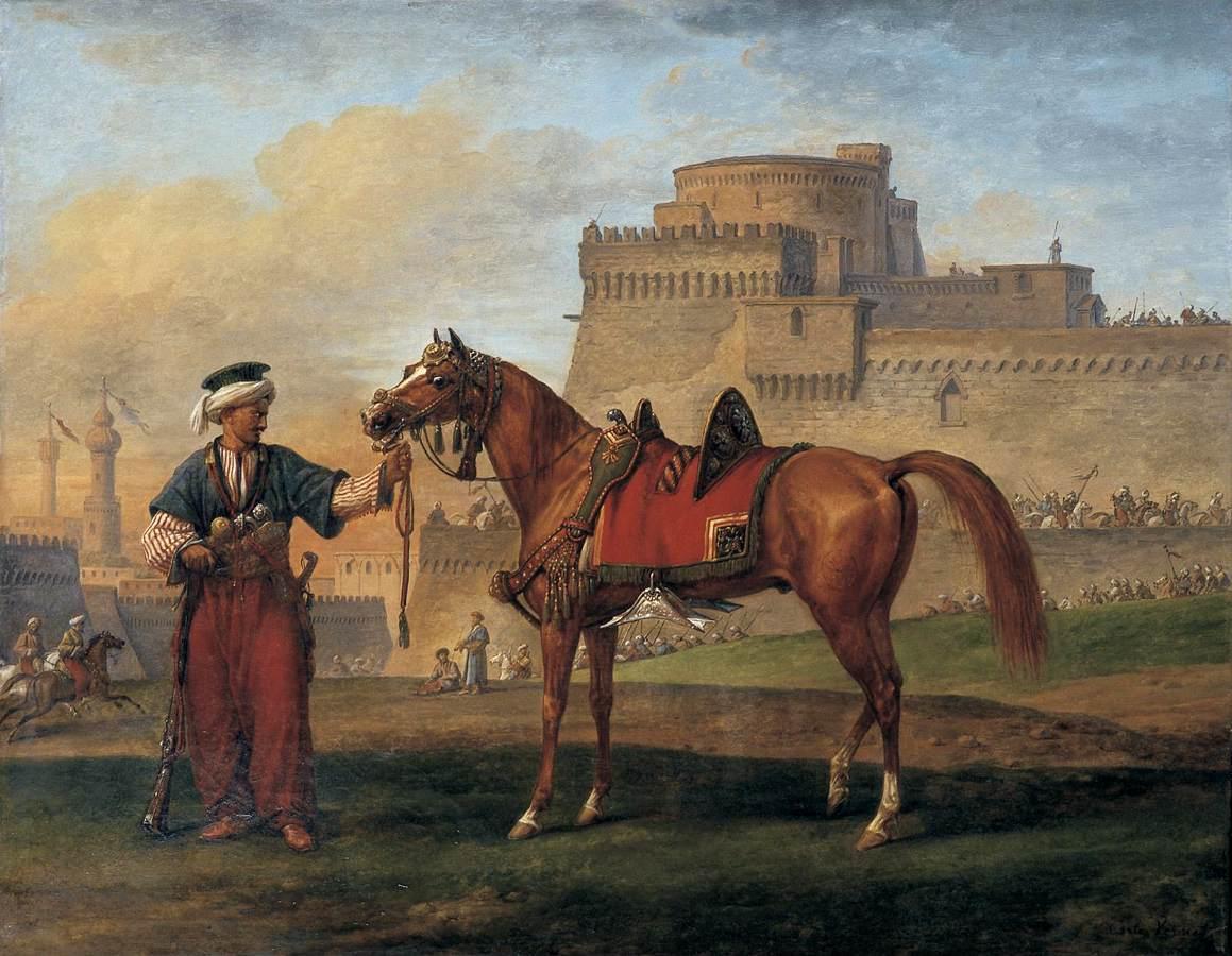 file carle vernet a mameluk leading his horse wga24720