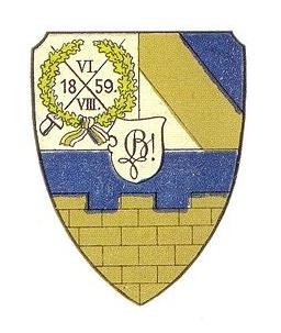 Studentenwappen des Corps Budissa Leipzig zu Passau