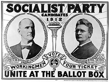 Campaign poster for Socialist Party, 1912 Election