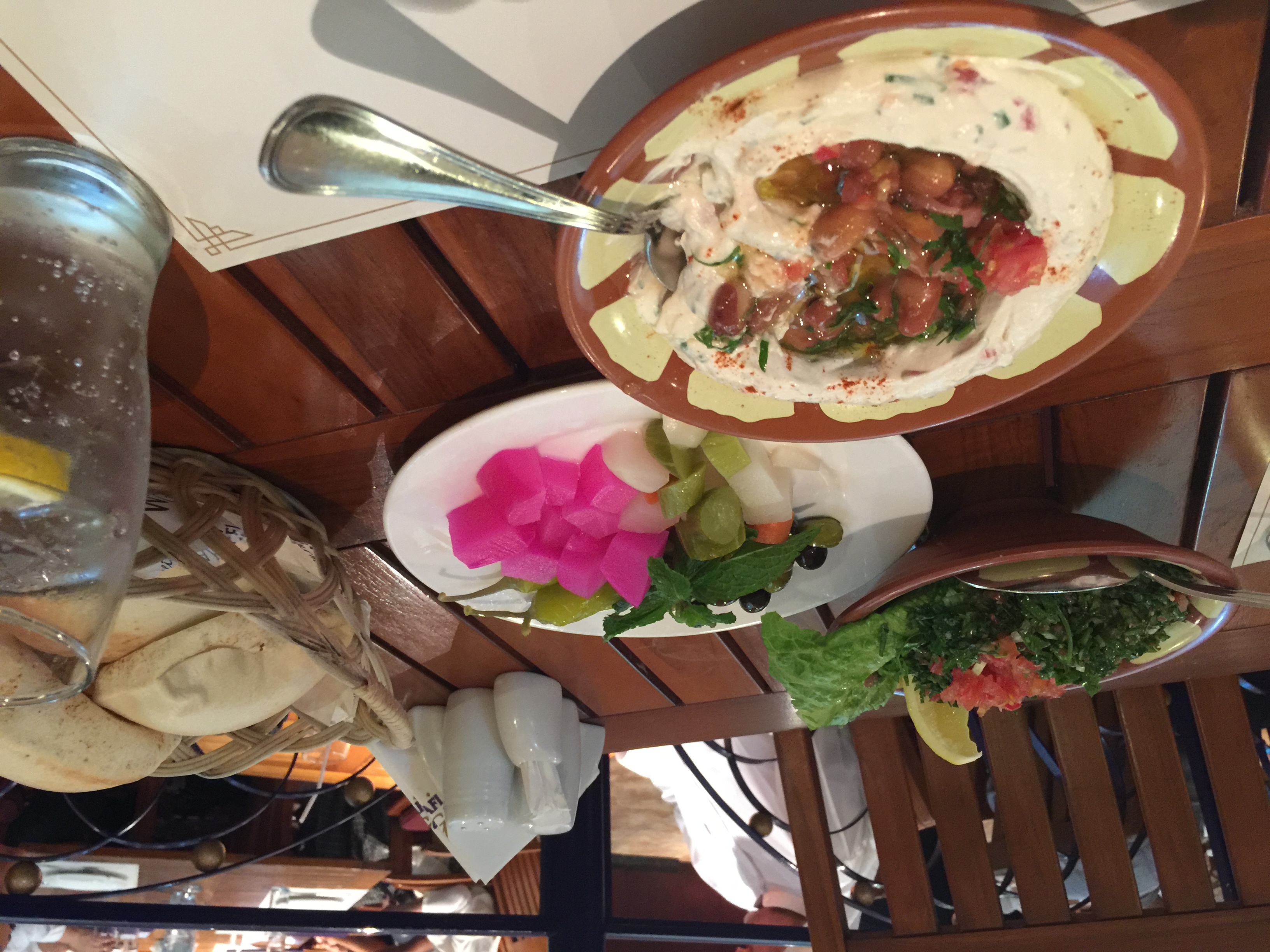 Dubai Food in a restaurant in Palm Jumeirah