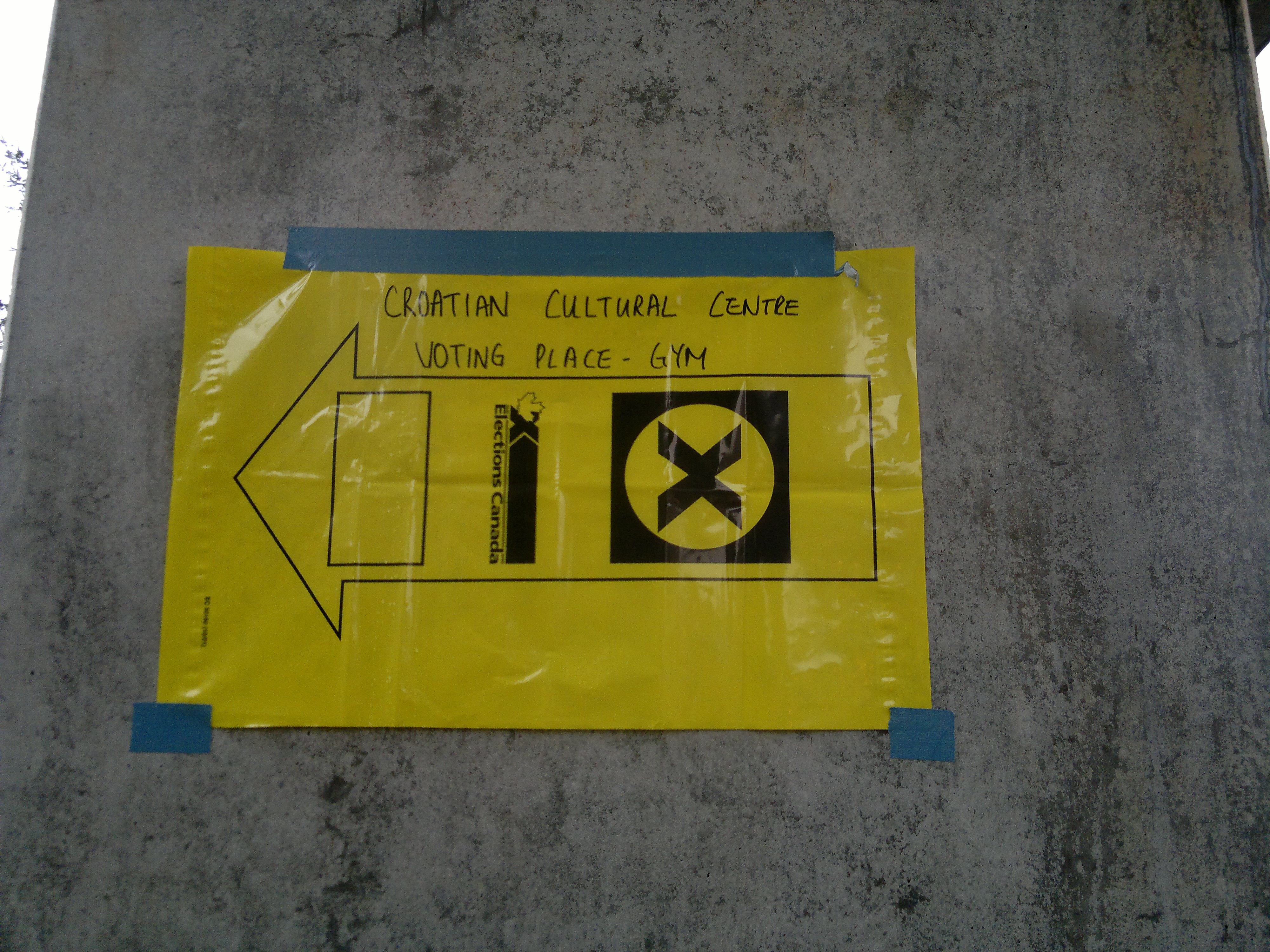 File Elections Canada Directional Sign For Polling Station 2011