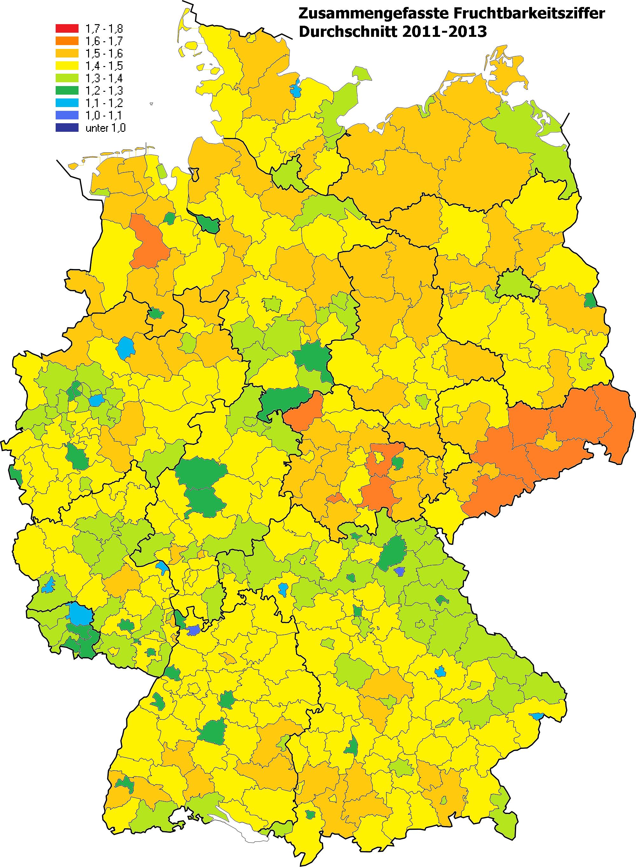 Demografie Deutschlands – Wikipedia - Bundesrepublik Deutschland Bundesländer Karte