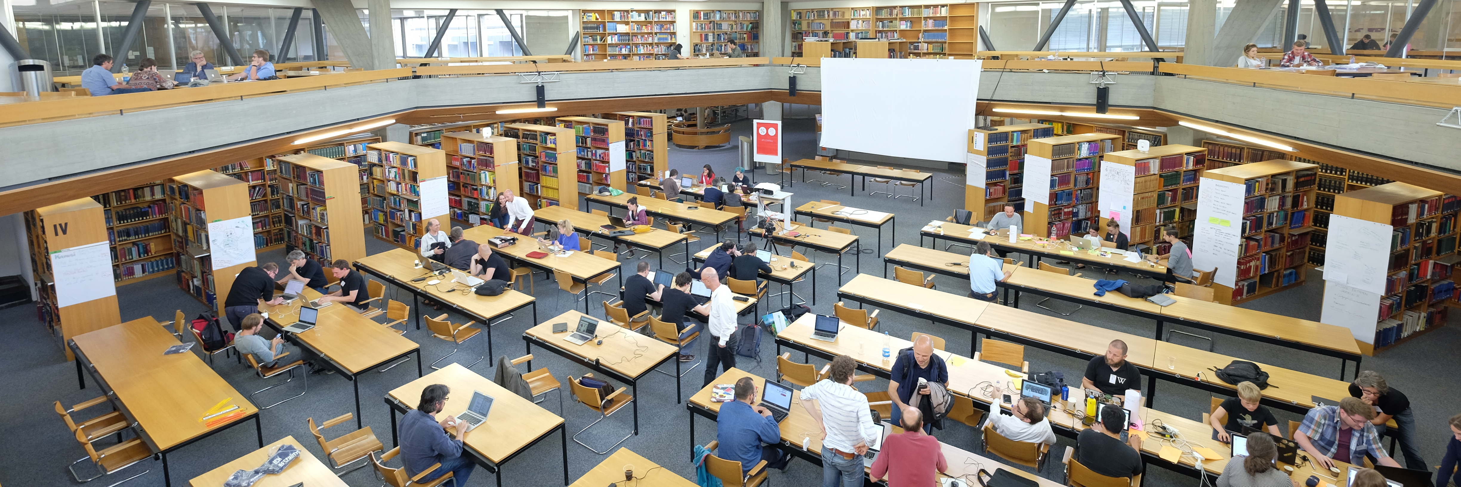 Swiss Open Cultural Data Hackathon 2016 at the Basel University Library. Photo by M. Schwendener, Commons