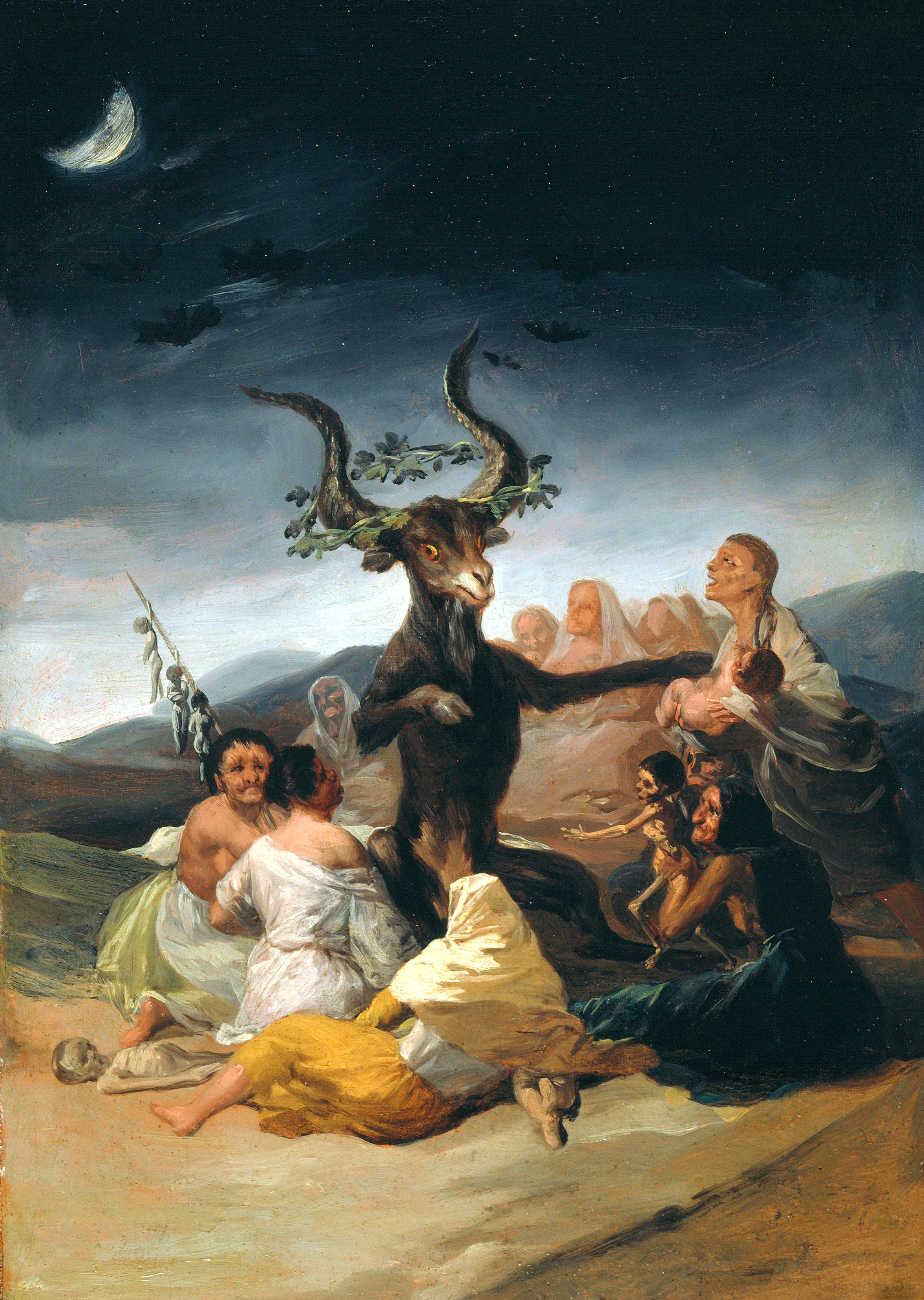 Witches Sabbath Goya Wikipedia - Francisco goya paintings