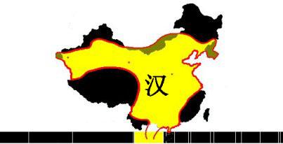 Carte du territoire de la dynastie Han - Histoire de la Chine