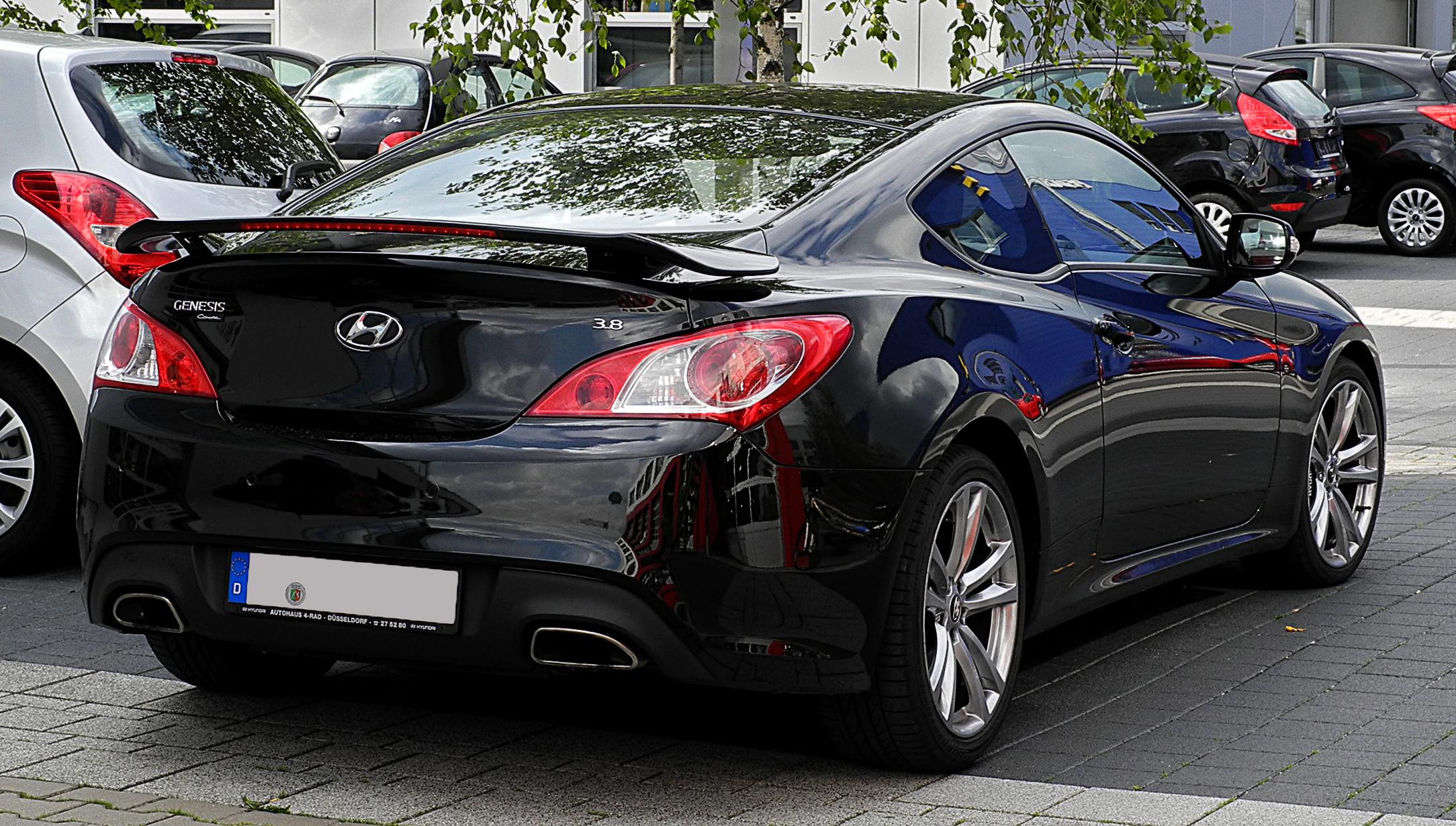 File Hyundai Genesis Coup 233 3 8 V6 Heckansicht 25 Juli