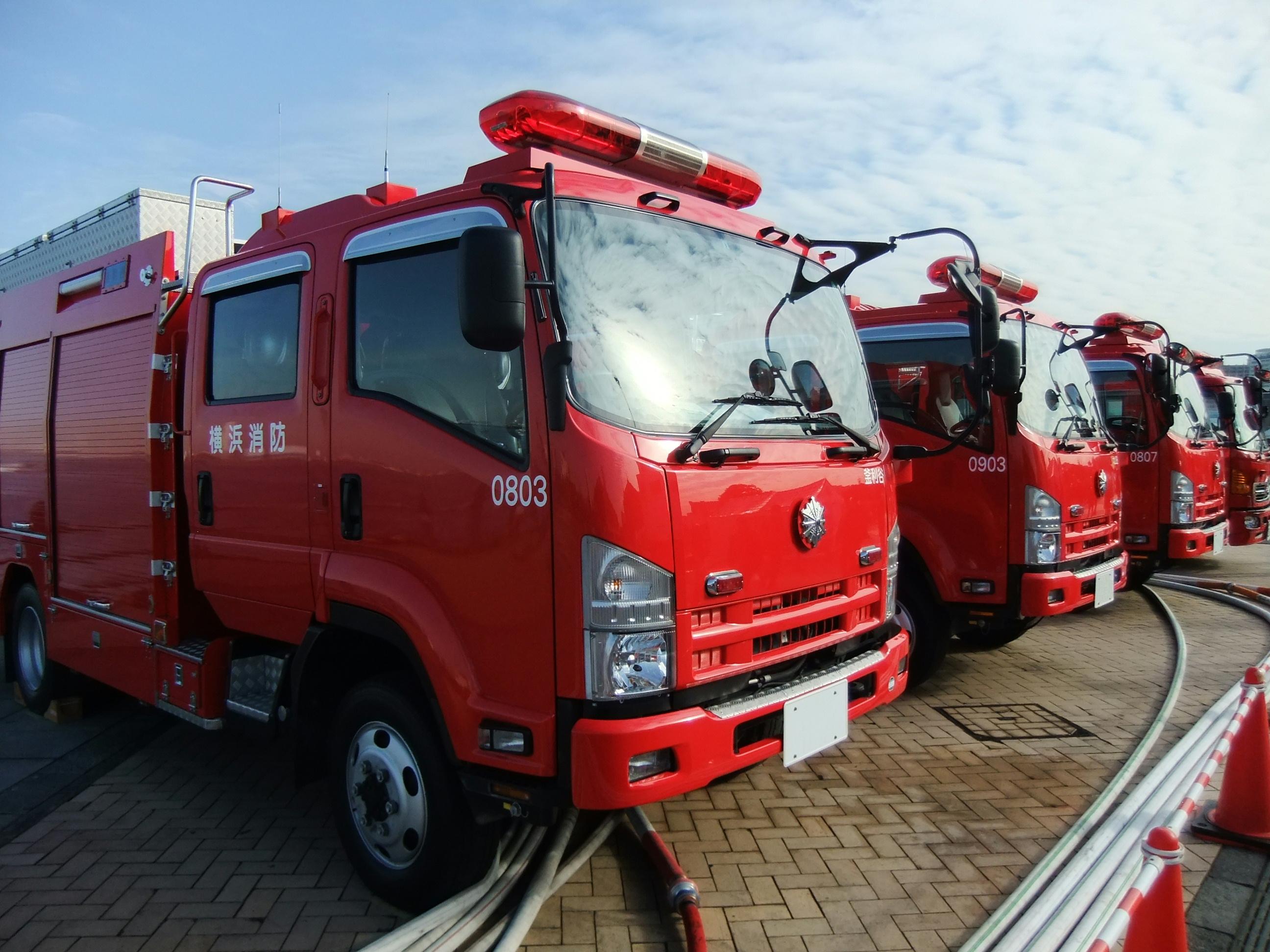 File Isuzu Elf  6th Gen  Pumper Truck  Fire