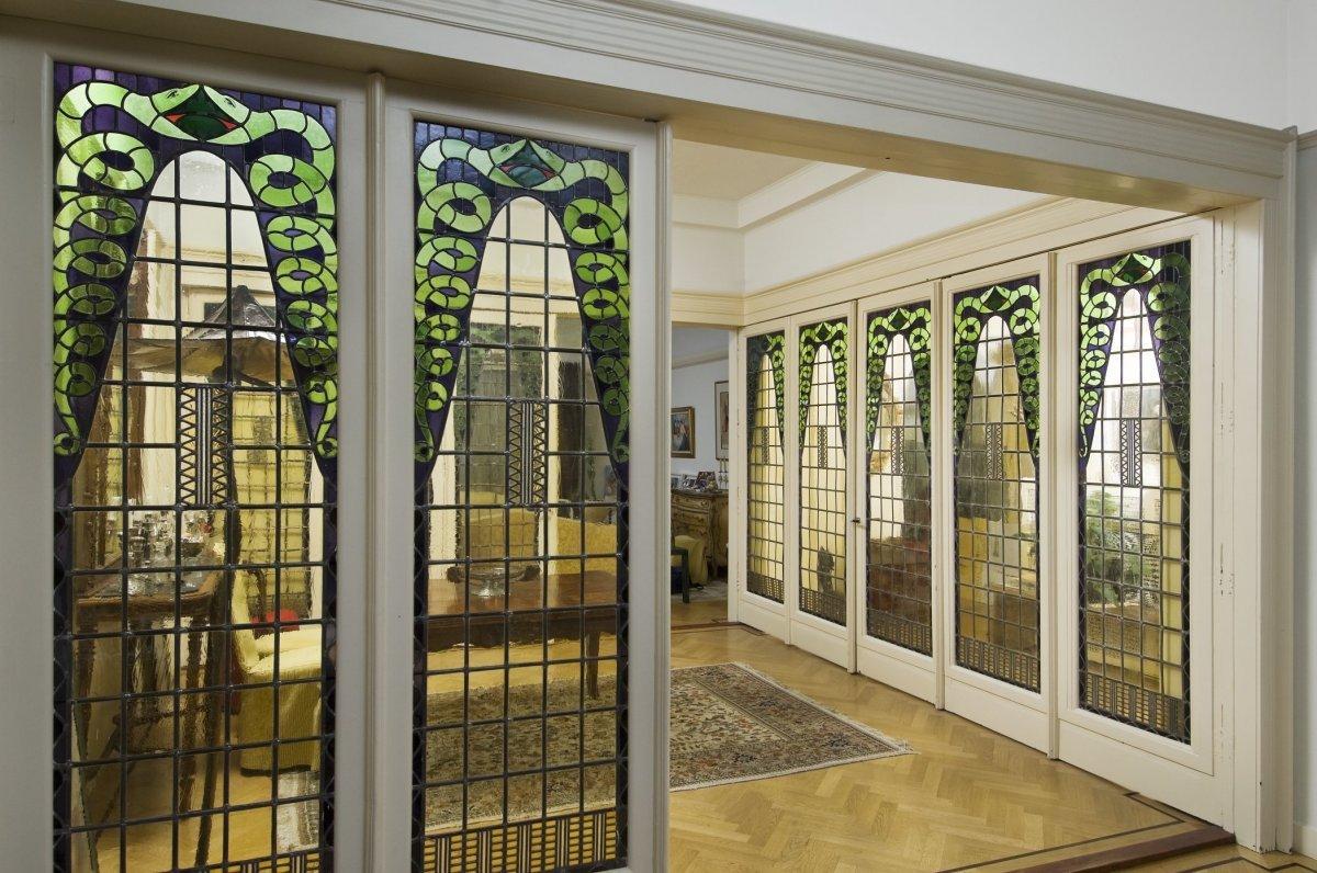 File interieur de woonkamer met vouwdeuren amsterdam for Interieur architect amsterdam