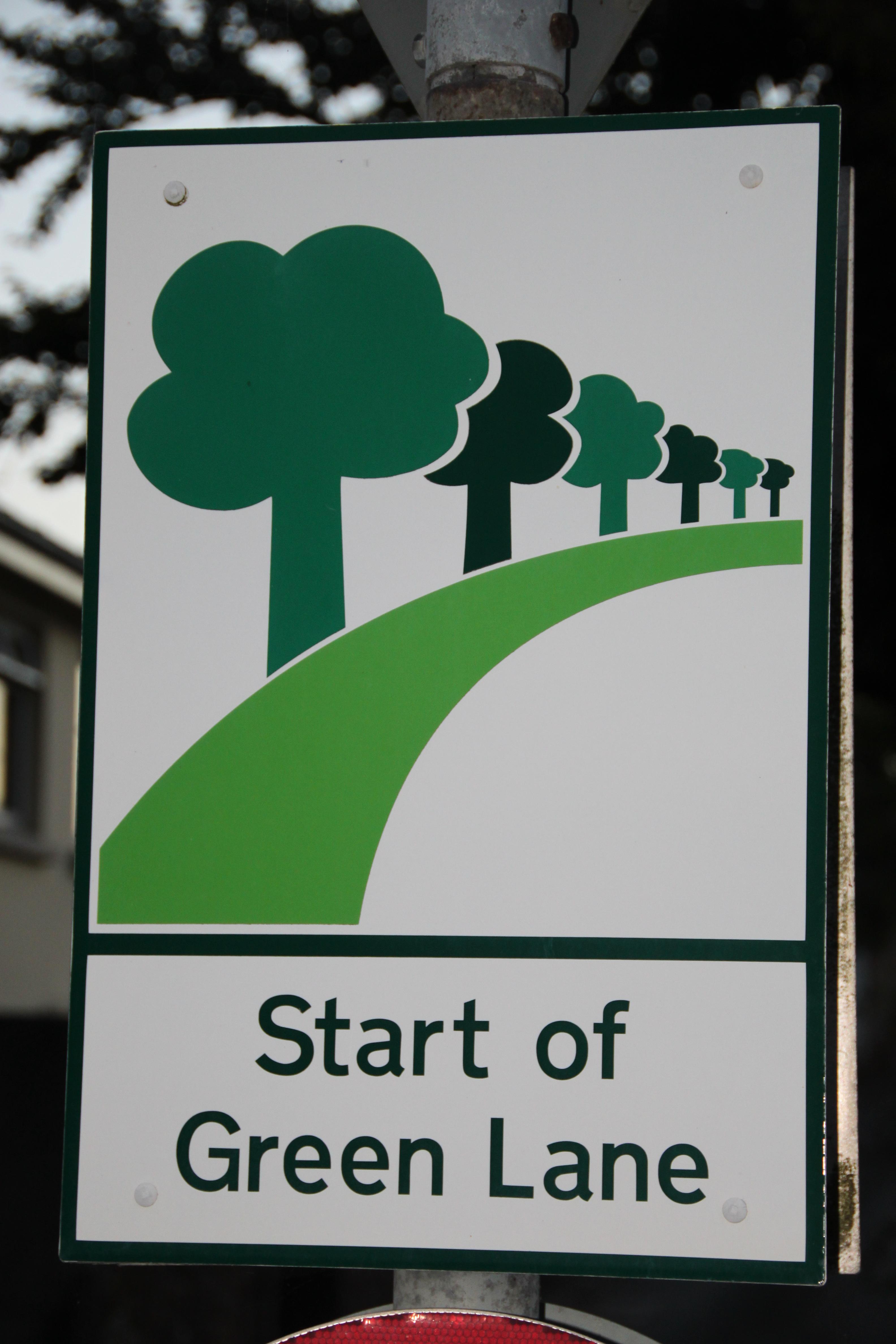 Green Start Sign