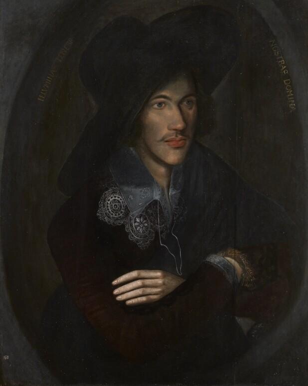 Донн в молодости (1595). Неизвестный художник. Национальная портретная галерея