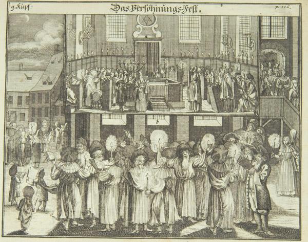 Jom Kippur, 1724, from Juedisches Ceremoniel.jpg
