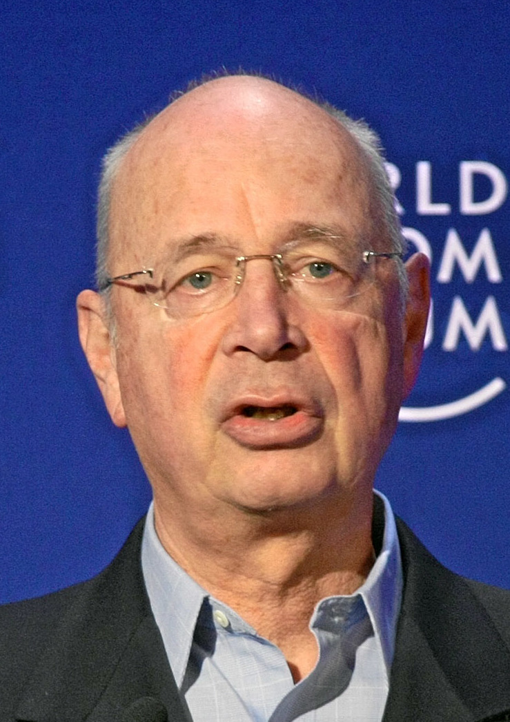 Klaus Schwab at the World Eonomic Forum in Davos in January 2008.