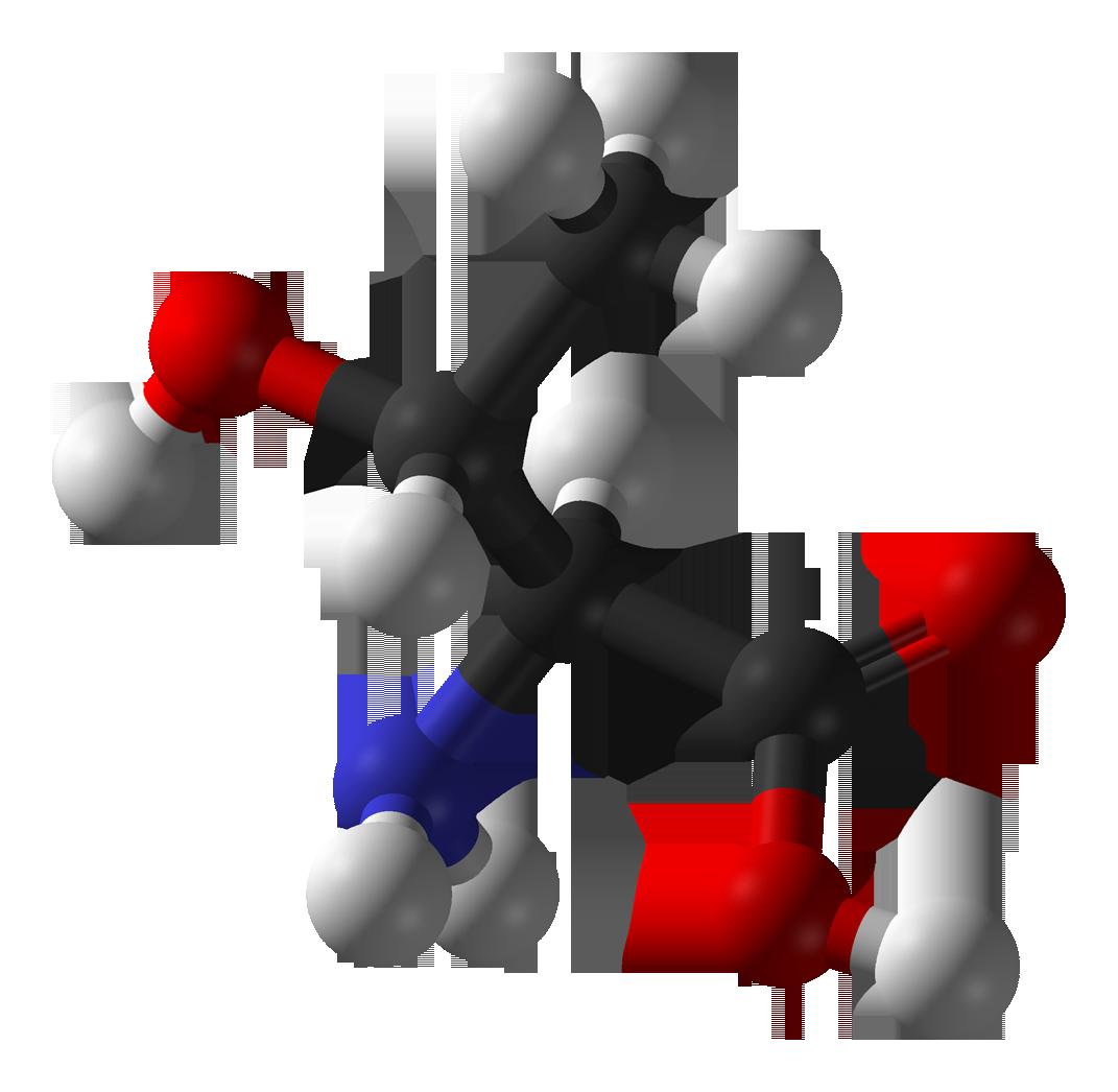 Description l threonine 3d balls