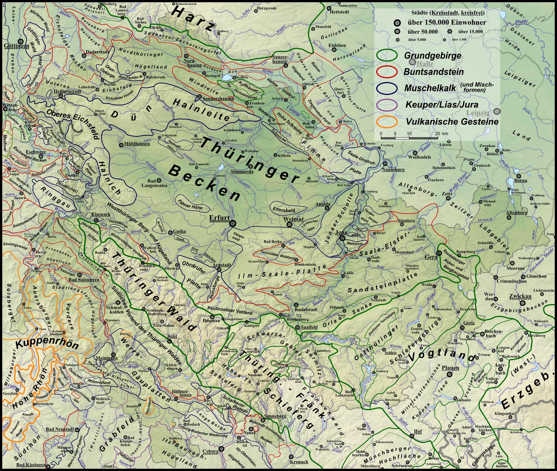 Thüringer Wald Karte.Thüringer Schiefergebirge Wikipedia