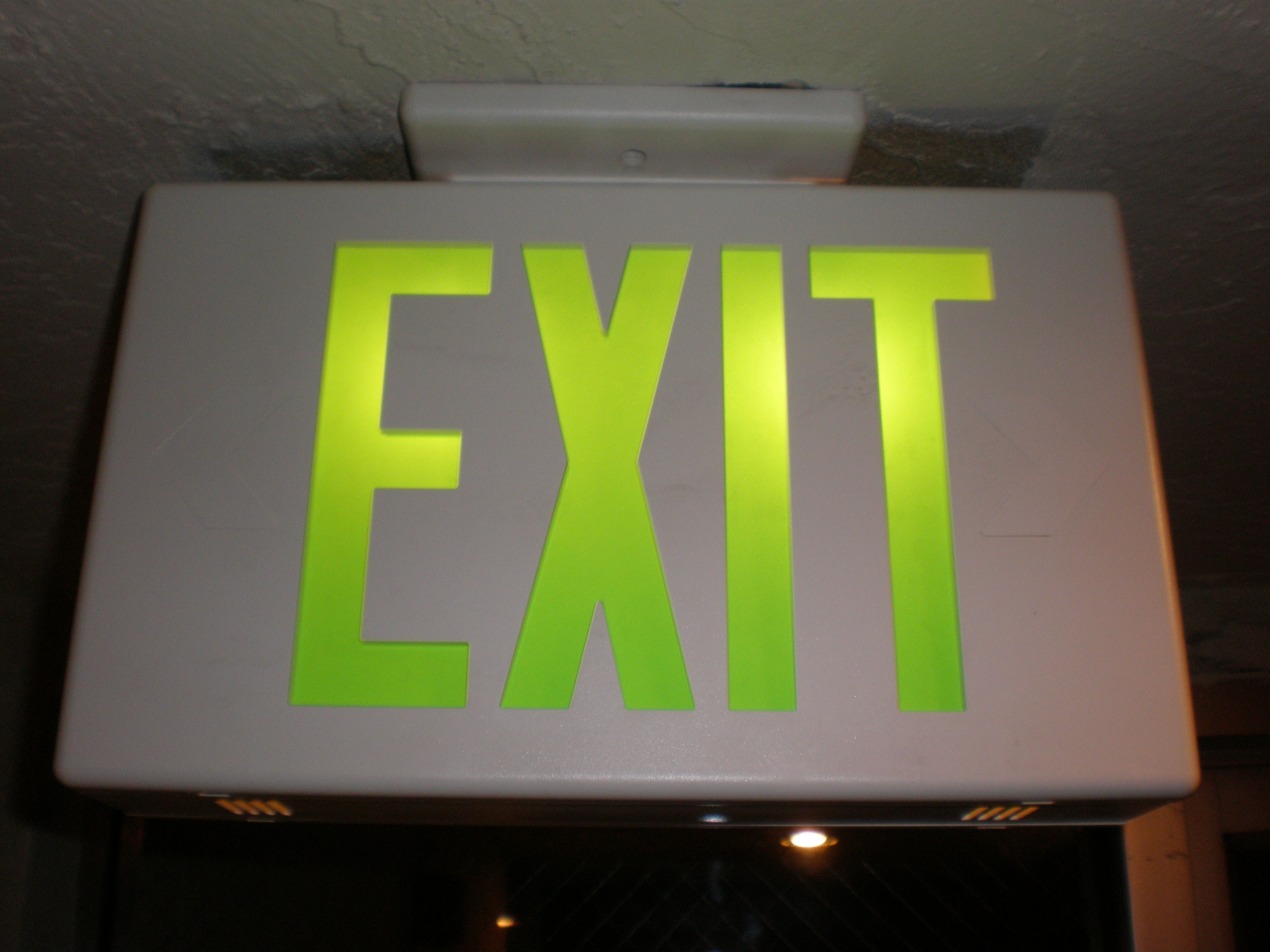 Filelight Green Neon Exit Sign Jpg Wikimedia Commons