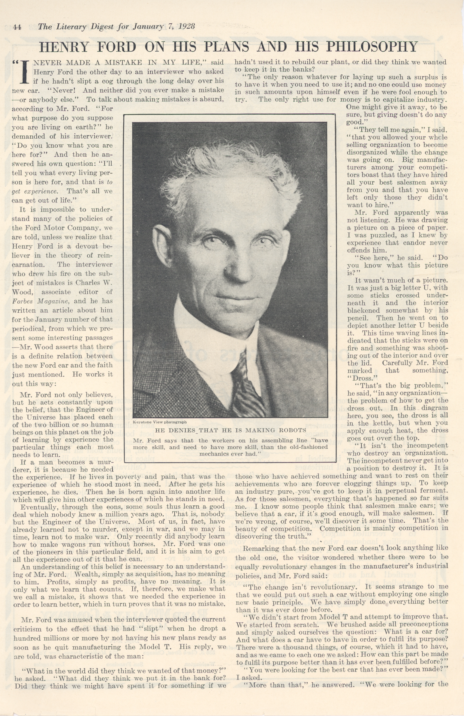 a description of henry ford on his success with the self propelled vehicle which led to the start of Writing charles about his success the produce a road vehicle which shall be self-propelled written description in his second book of the number.