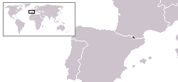 Location of Andoorra