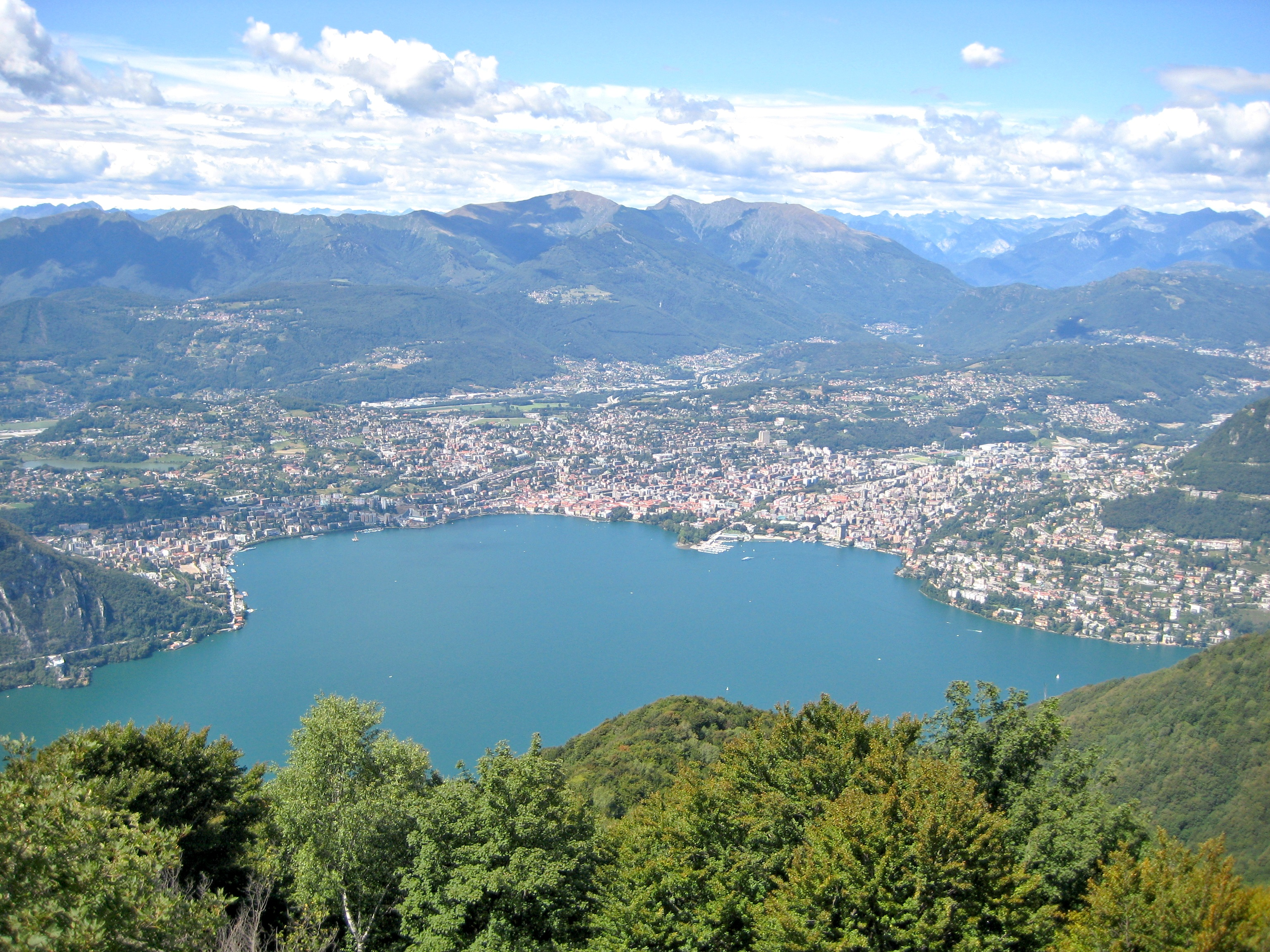 View of Lugano (from Wikimedia Commons)