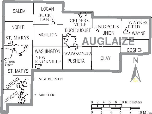 File Map Of Auglaize County Ohio With Municipal And Township Labels