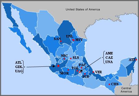 mapa de mexico sin nombres. Archivo:Mapa Primera division