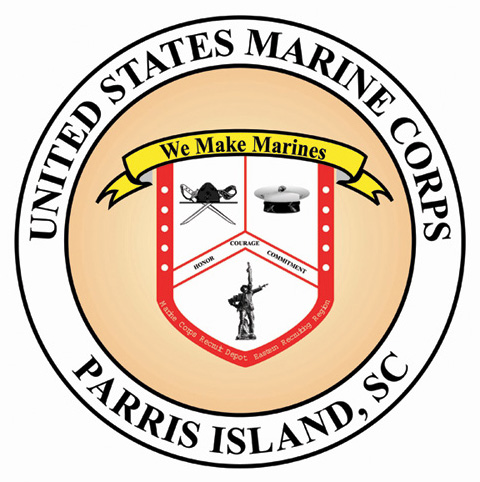 image relating to Printable Marine Corps Emblem named Maritime Corps Recruit Depot Parris Island - Wikipedia