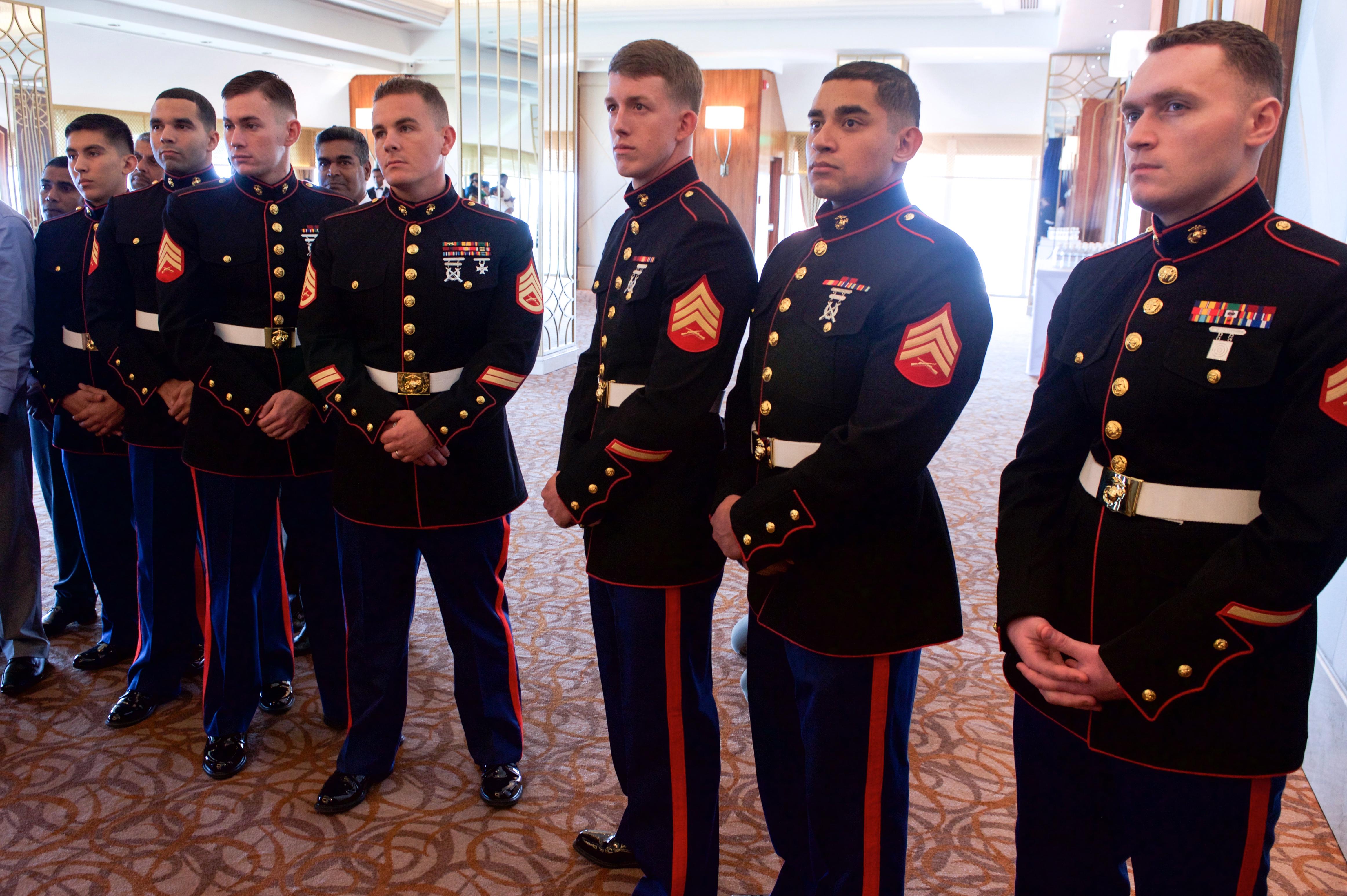 File:Marine Security Guard Detachment Members Watch Secretary ...