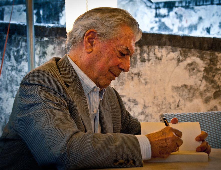 Mario Vargas Llosa, courtesy Wikimedia Commons