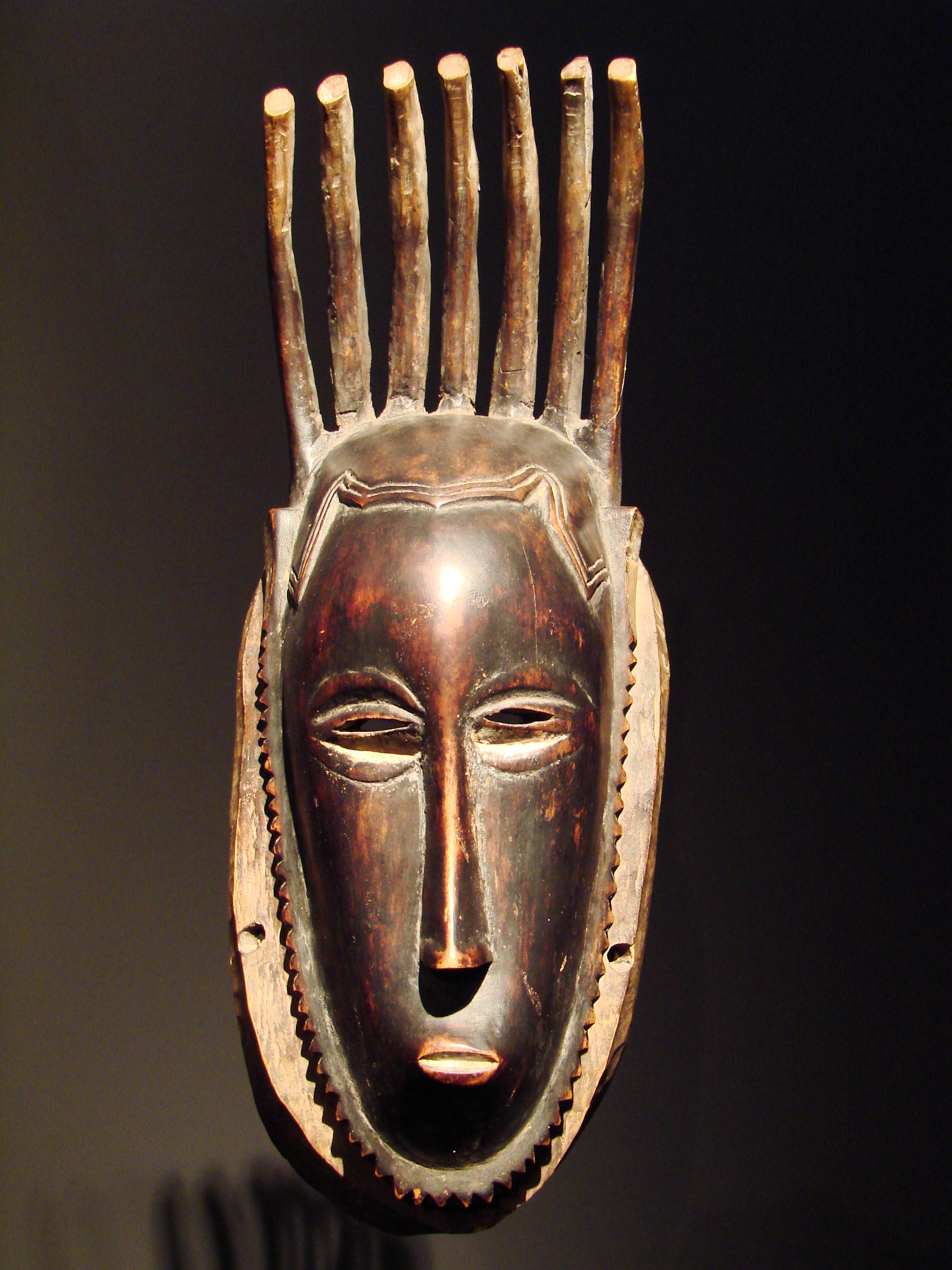 Description Mask seven horns Guro Ivory Coast.JPG