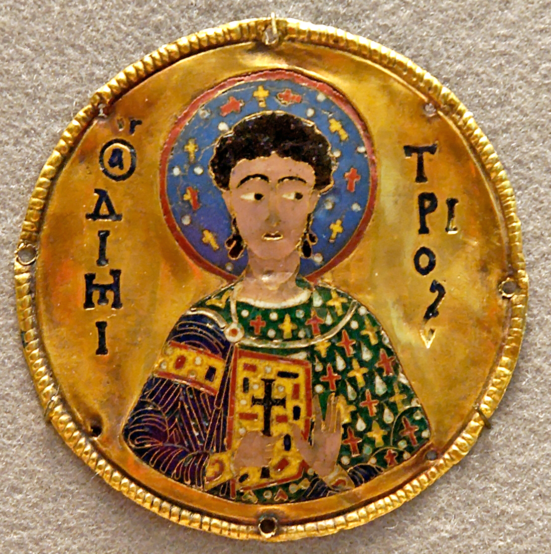 Cloisonne - tehnika dekoracije emajla - Page 4 Medallion_St_Demetrios_Louvre_OA6457