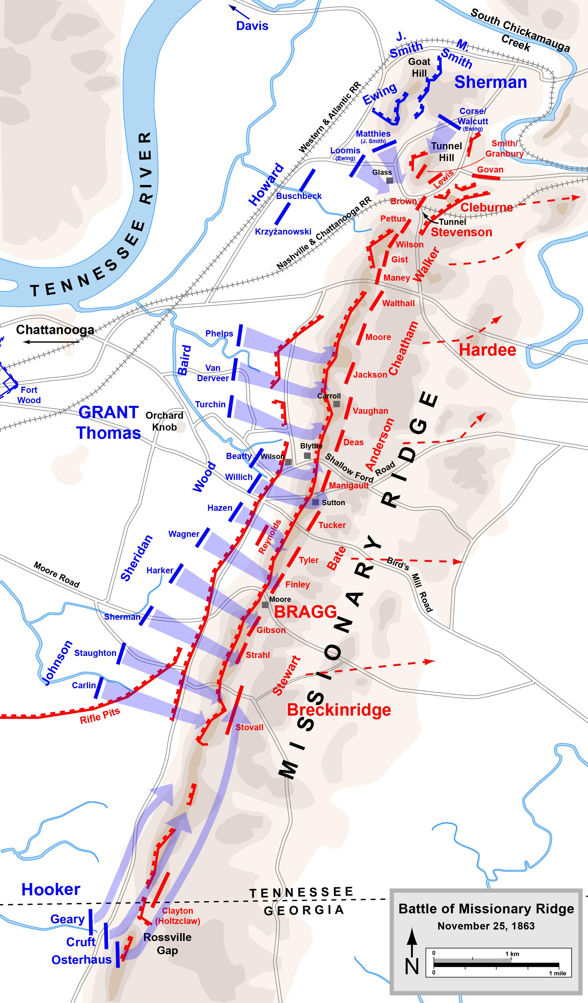 Battle of Missionary Ridge - Wikiwand