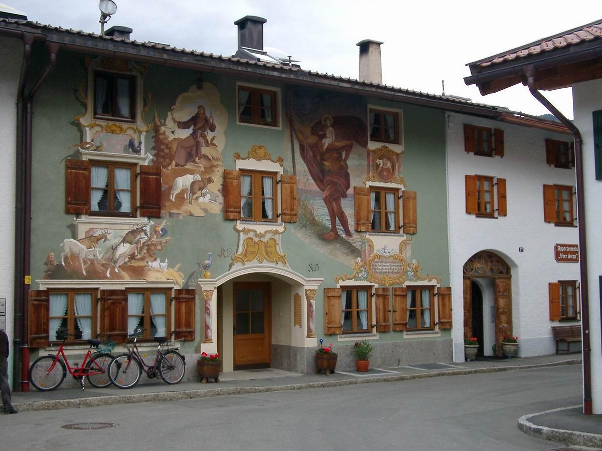 L ftlmalerei wikipedia for Foto di case antiche