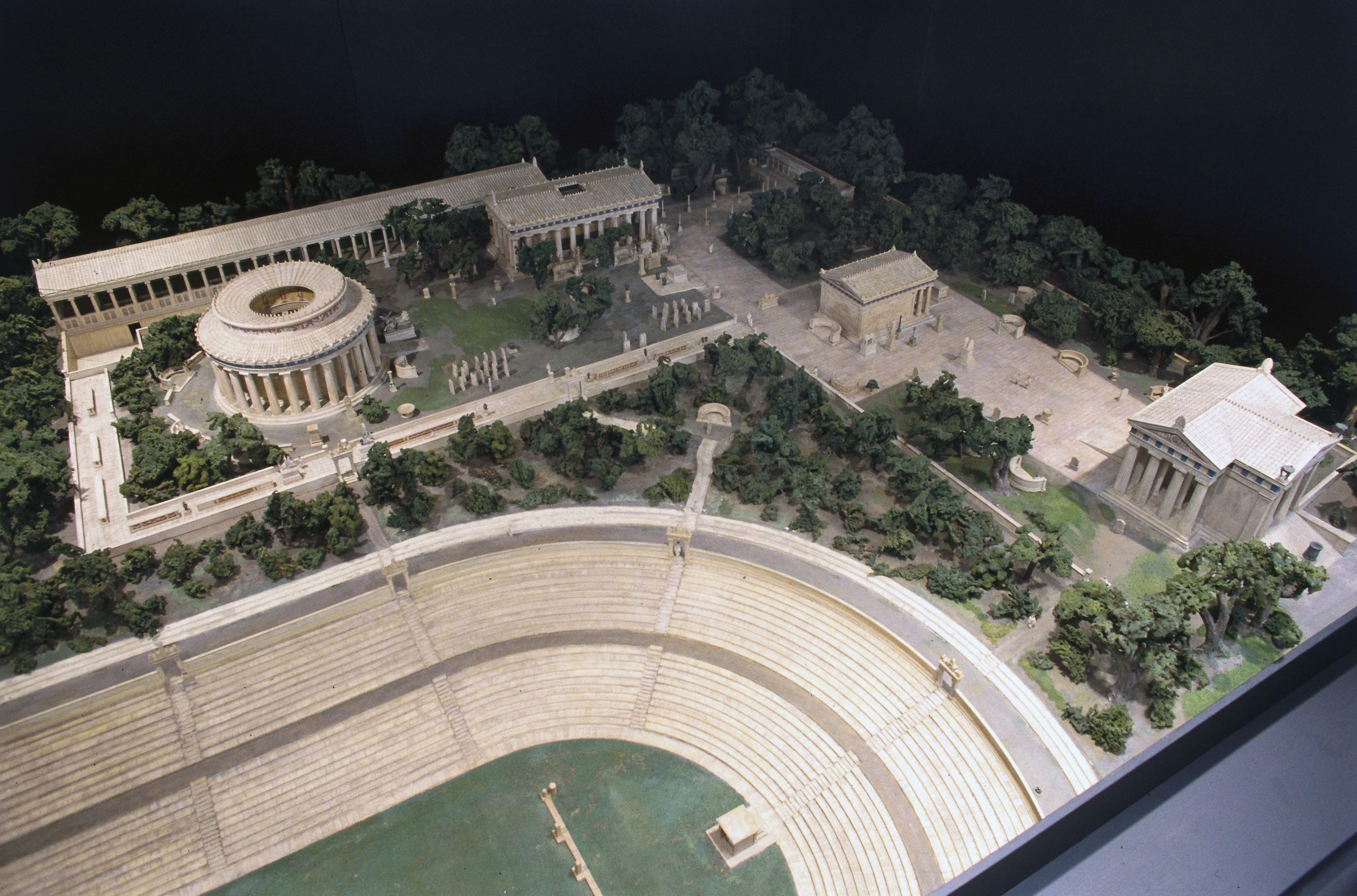 File:Model of the Asklepion at Epidaurus, Greece, 1936 ...