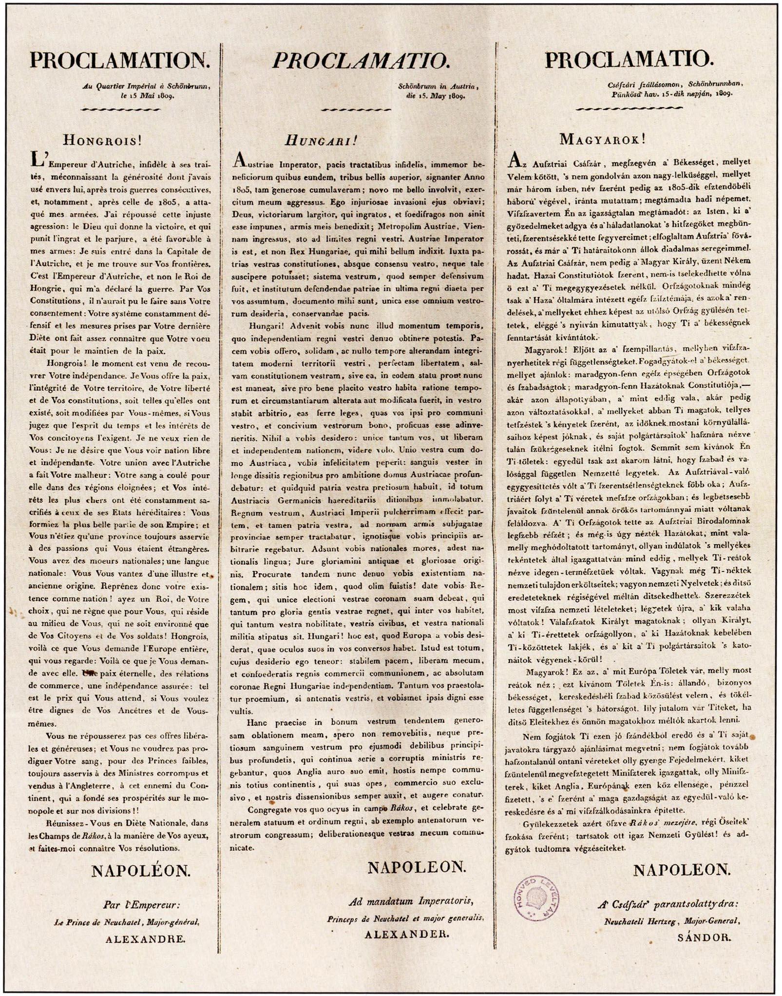 Filenapleon kiltvnya a magyar nemzethez 1809g wikimedia commons filenapleon kiltvnya a magyar nemzethez 1809g stopboris Images