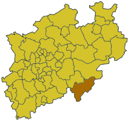 Poziția localității Siegen-Wittgenstein (district)