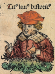 Livio in un'illustrazione delle Cronache di Norimberga