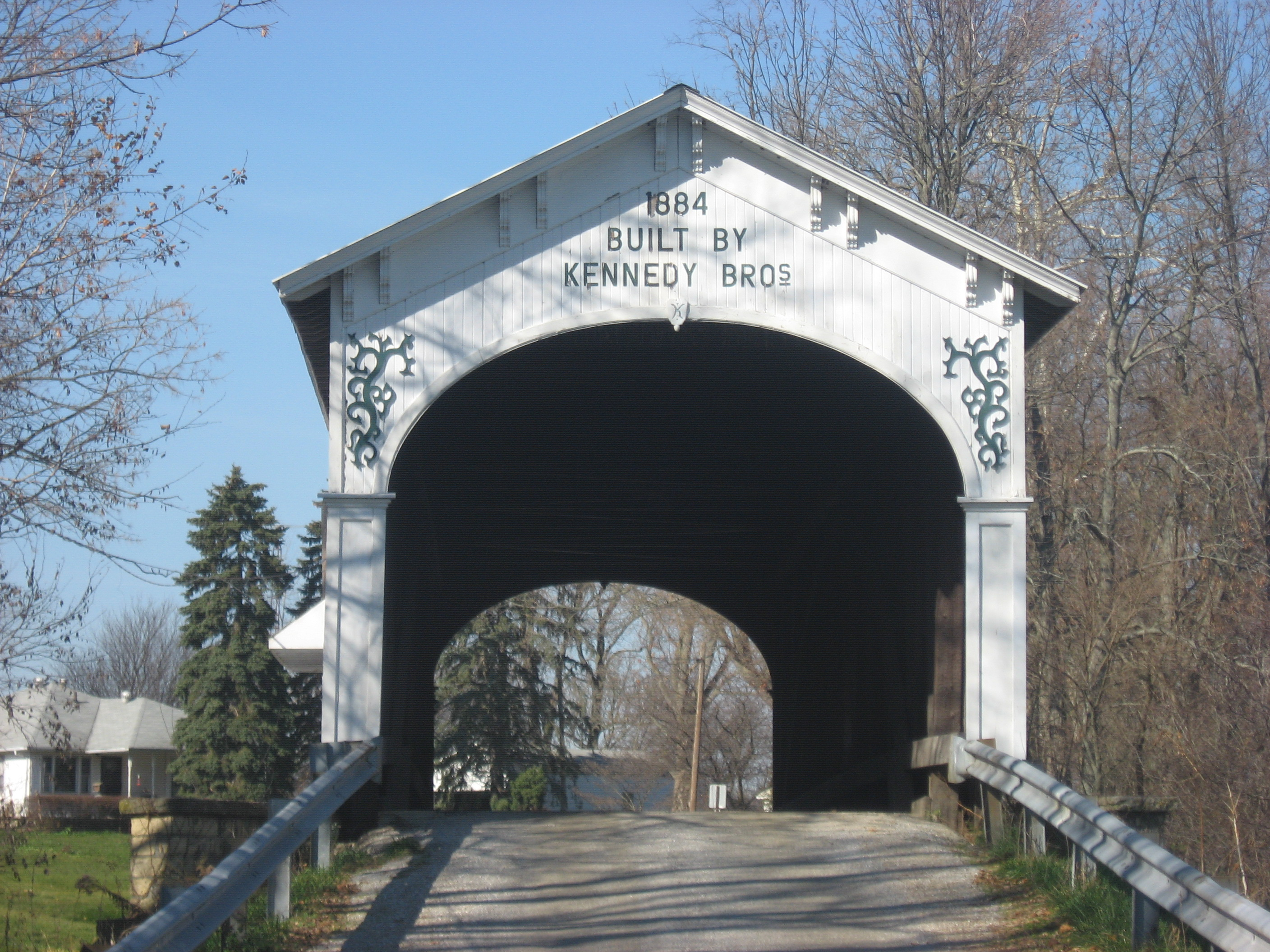 Indiana rush county - File Offutt Covered Bridge Northwestern Portal Jpg