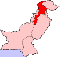 Map of Pakistan with North-West Frontier Province highlighted.