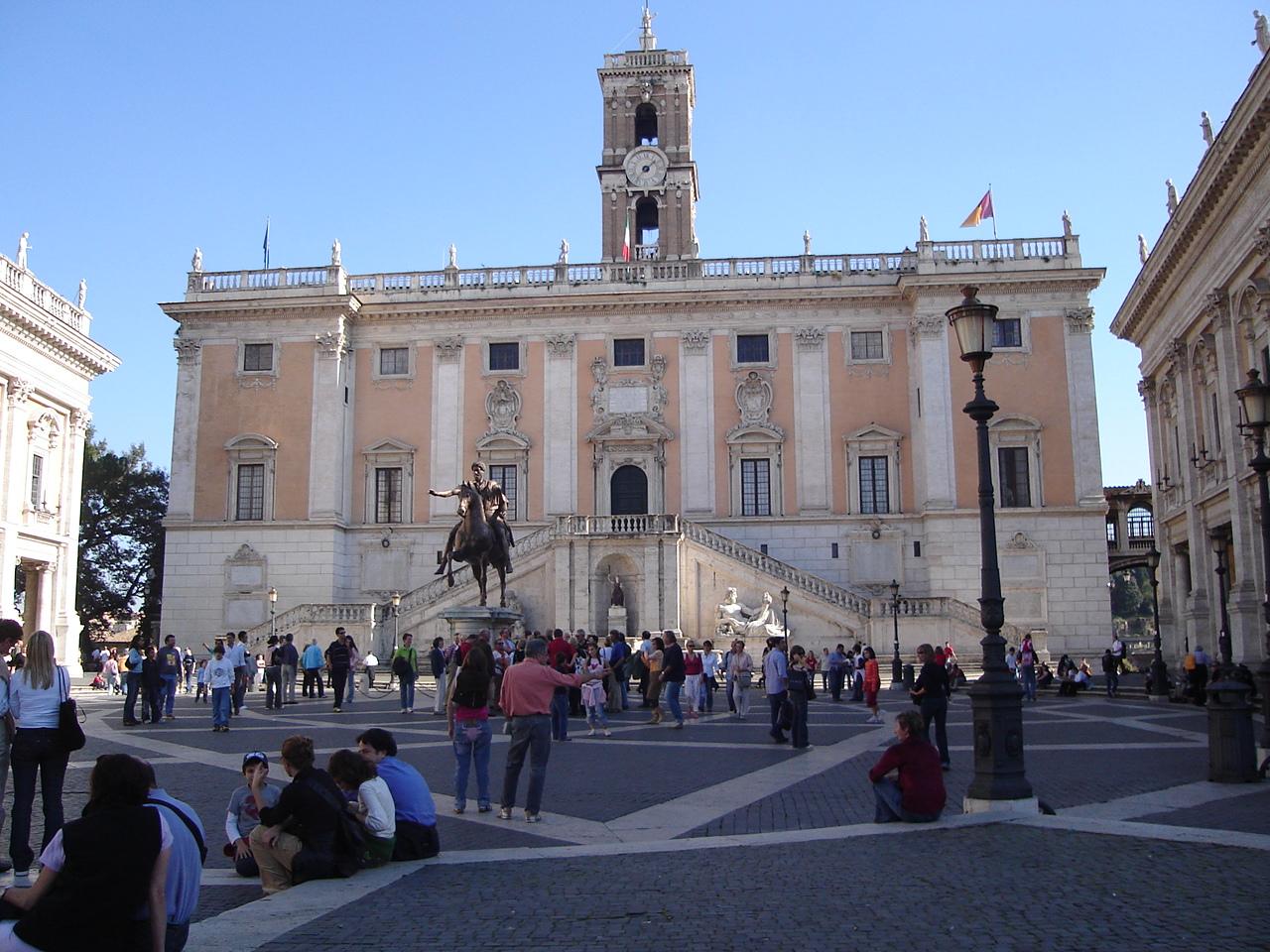 File:Palazzo Dei Senatori In The Piazza Del Campidoglio
