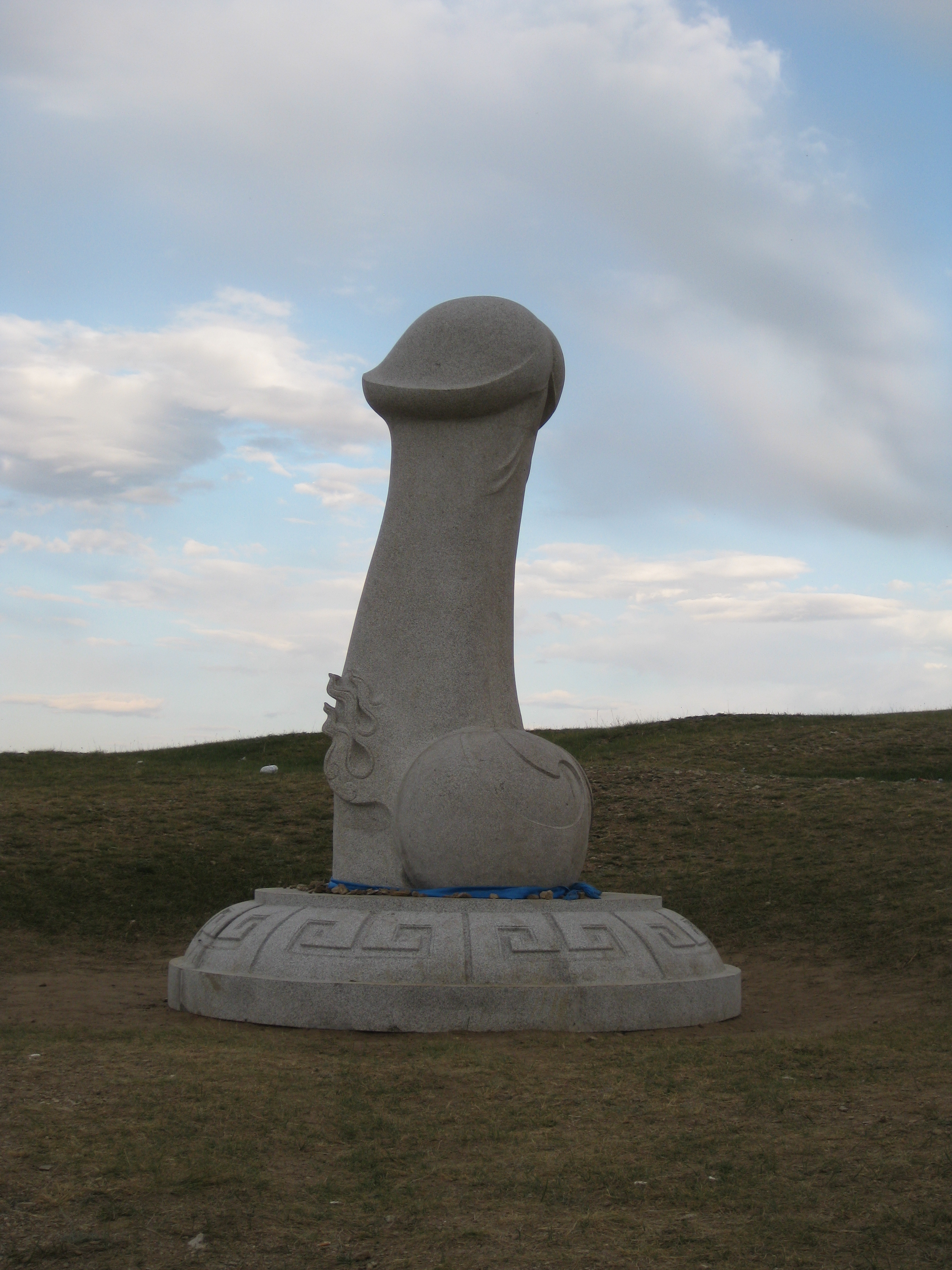 stone penis statue grown big