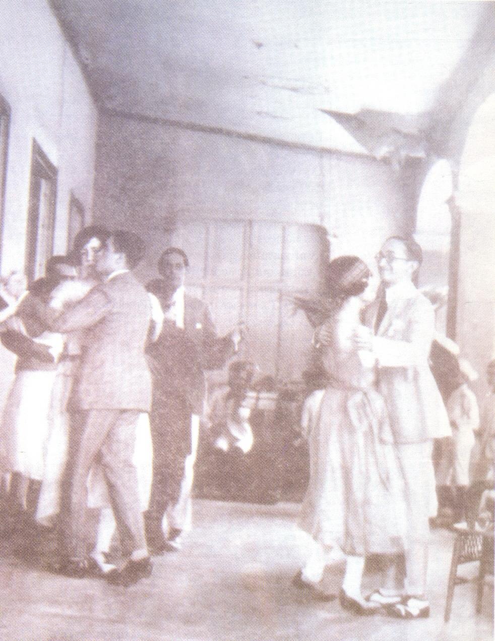 Baile de merengue venezolano en la década de 1920.
