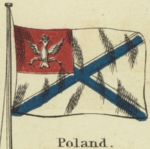 Znalezione obrazy dla zapytania polish navy flag ensign XVII XVIII