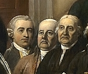 Richard Stockton, Francis Lewis and John Witherspoon in Declaration of Independence (1819), by John Trumbull.jpg
