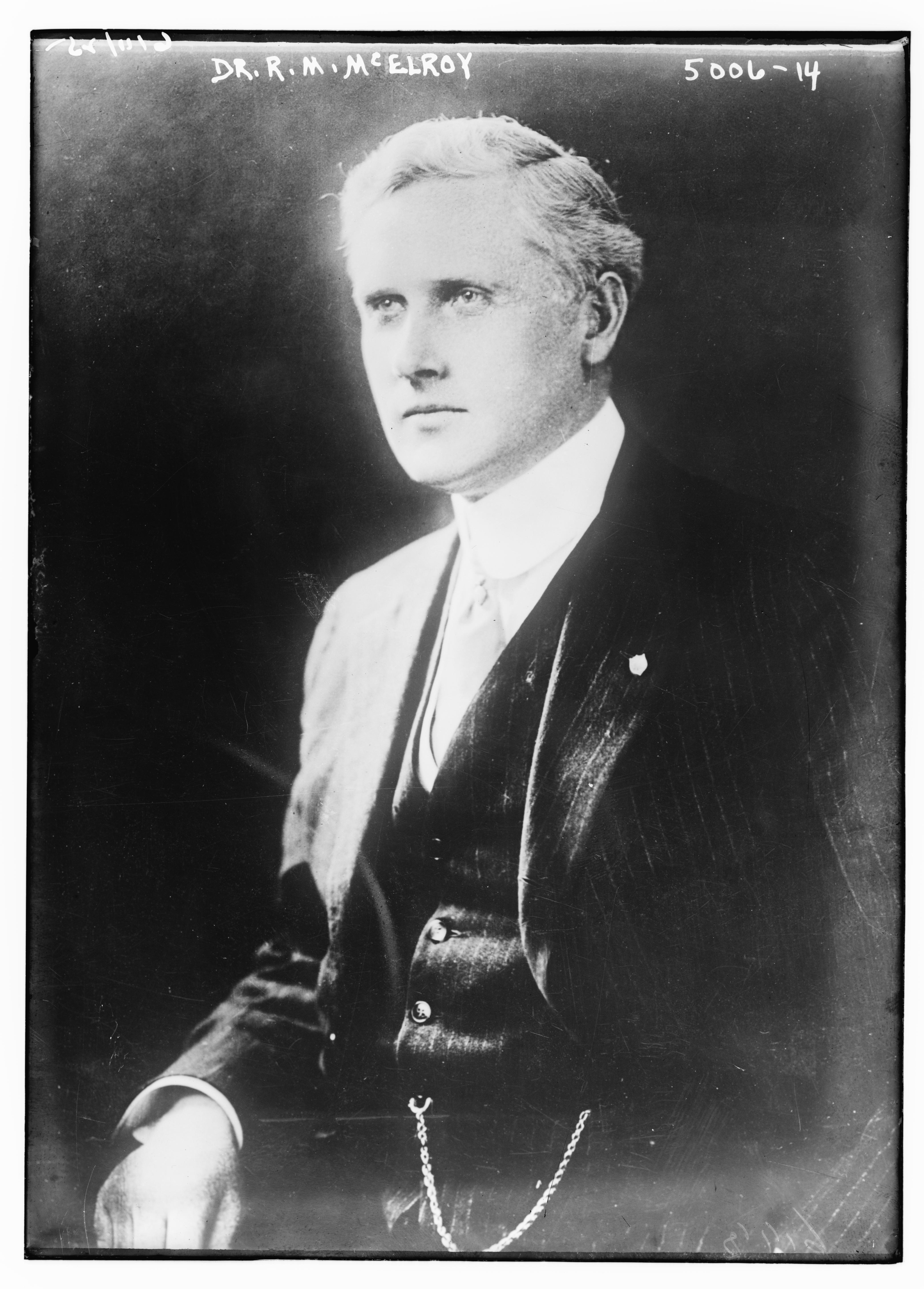 Robert McNutt McElroy in 1919