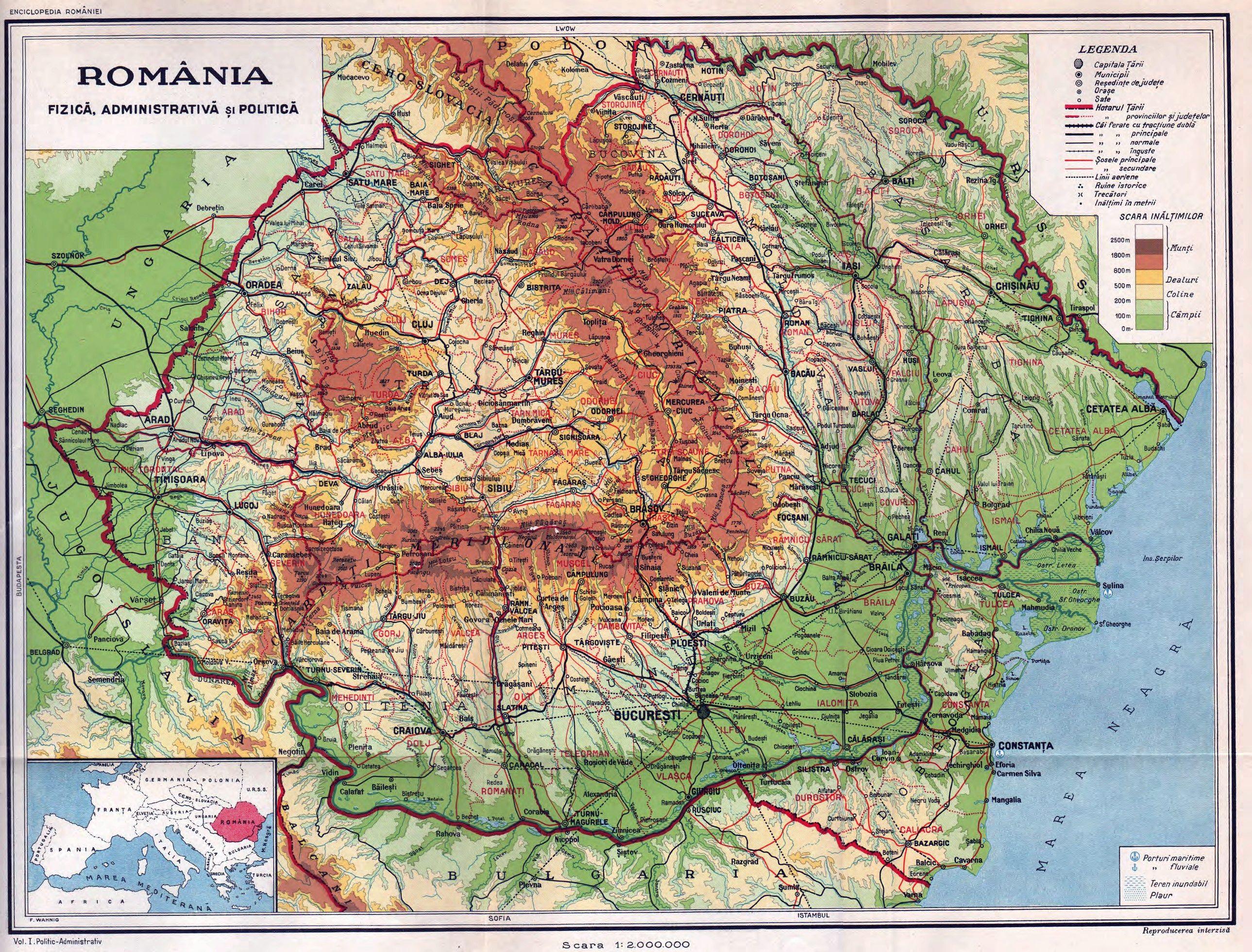 File Romania Harta Fizica Administrativa Si Politica Jpg