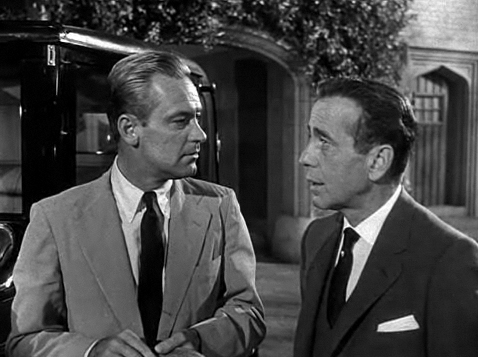 With Humphrey Bogart in Sabrina (1954)
