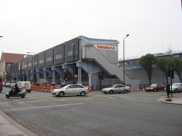 Sainsbury's on Camden Road. Grocery shopping in London