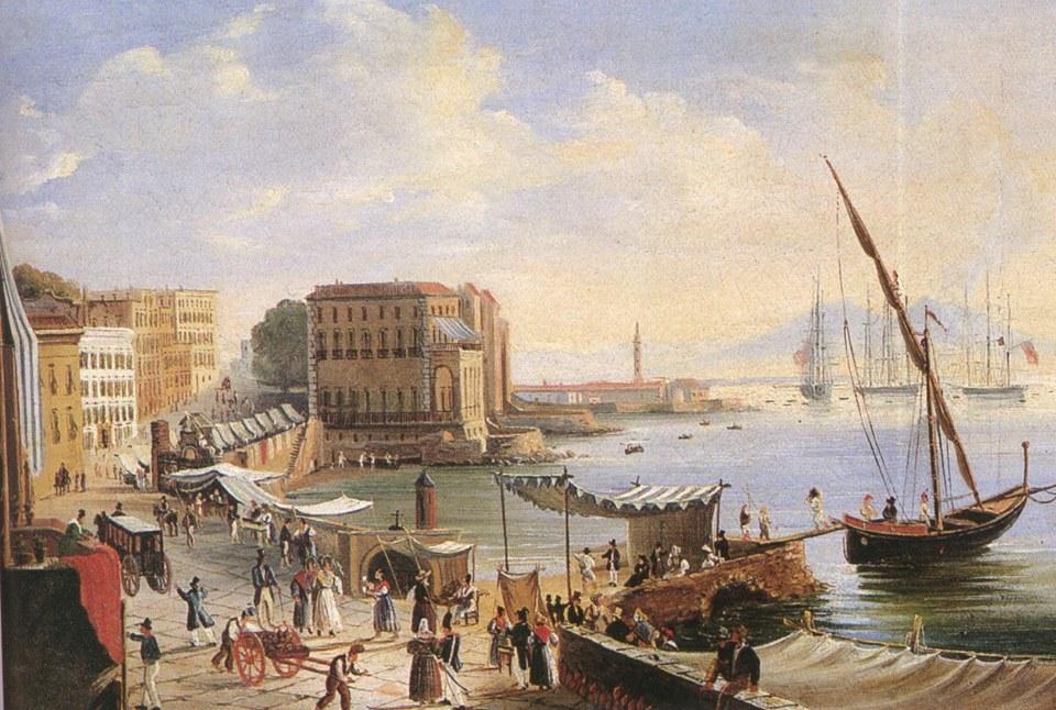 Borgo Santa Lucia in Neapel