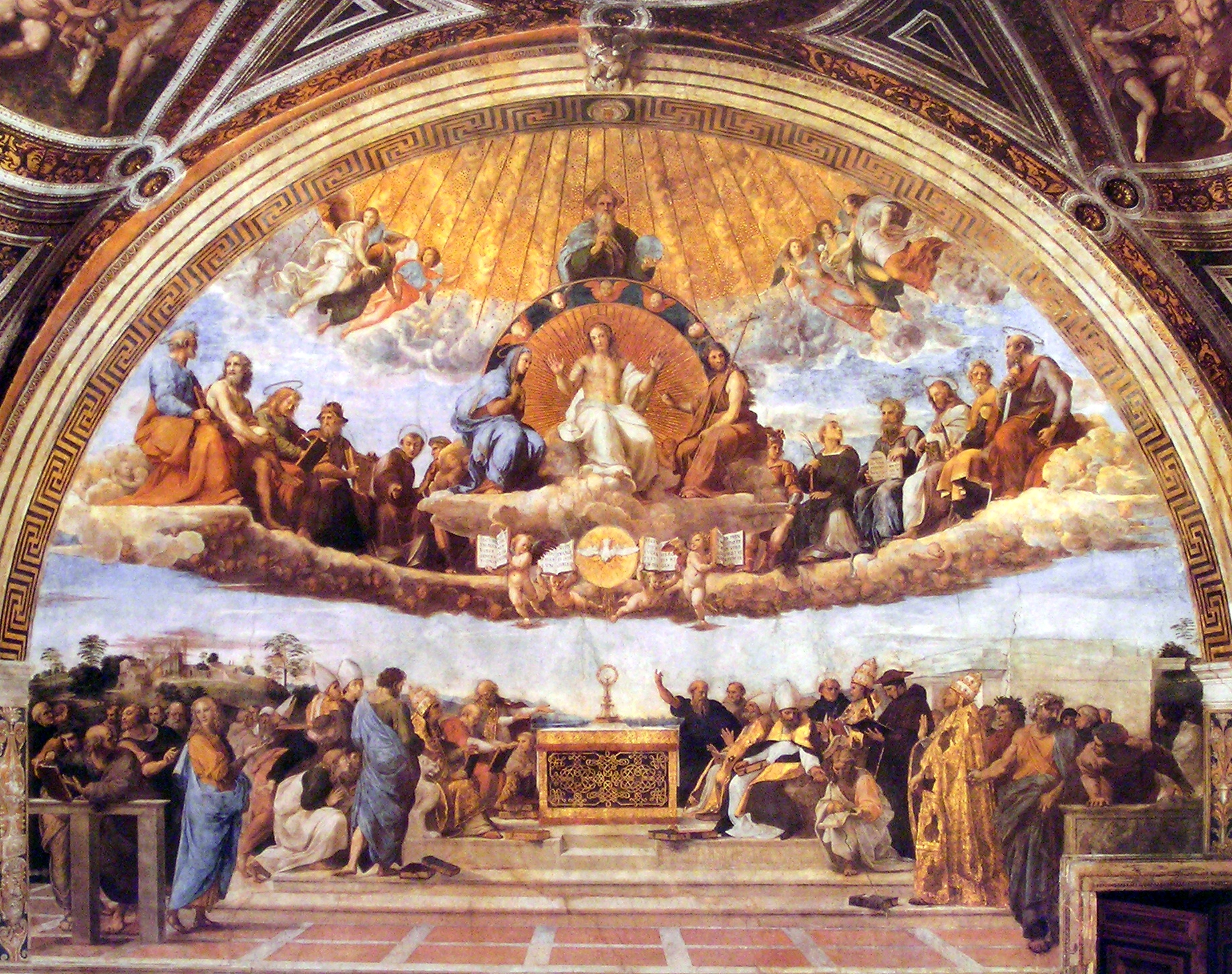 Archivo:Sanzio, Raffaello - Disputa del Sacramento - 1508-1511 - hi