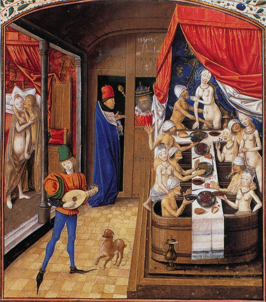 Master of Anthony of Burgundy, Scene of a bath house